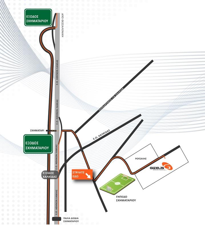 Χάρτης πρόσβασης στην έκθεση