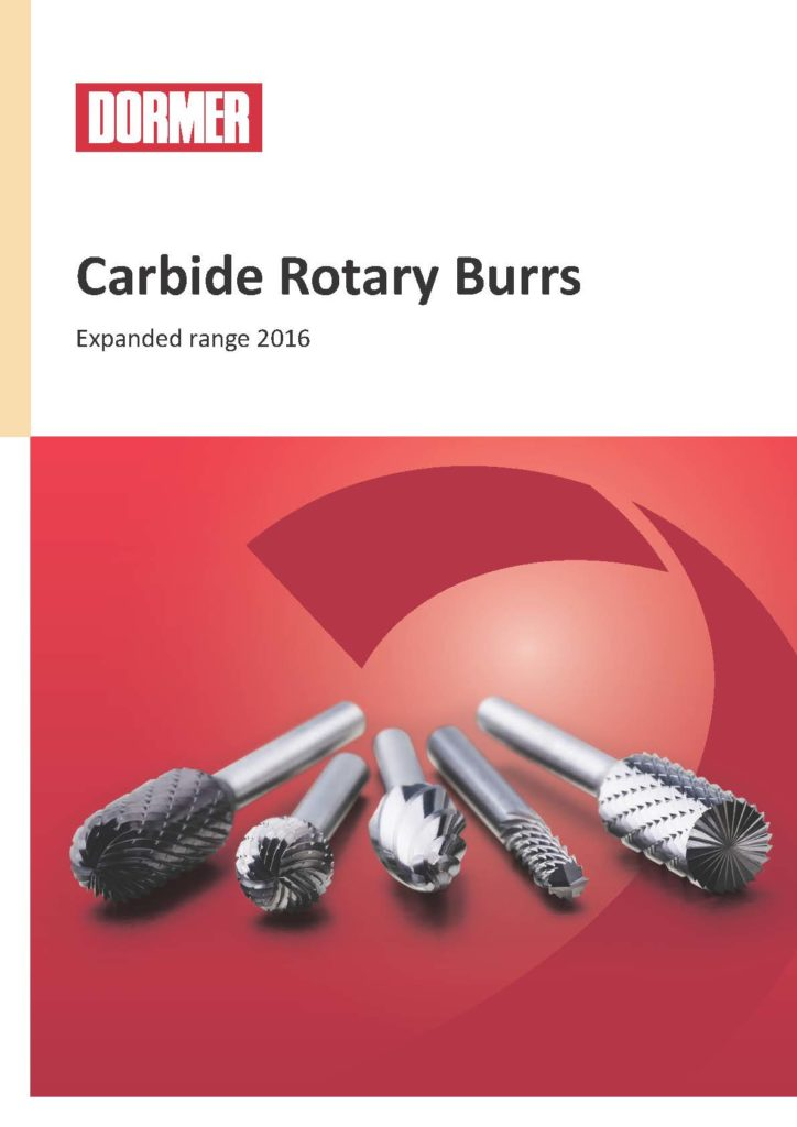 κατάλογος dormer carbide rotary burrs 2016